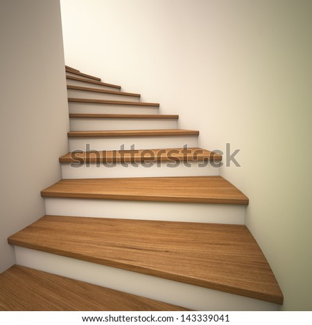 Spiral staircases , Render - stock photo