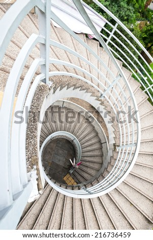 Spiral stairs - stock photo