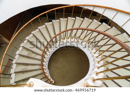 Spiral stairs at the building.