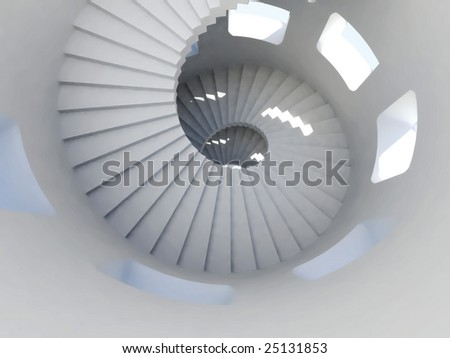 spiral stairway. For other similar images from the series, please, check my portfolio. - stock photo