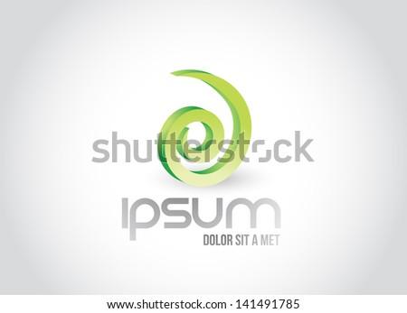 spiral symbol illustration design over white - stock photo