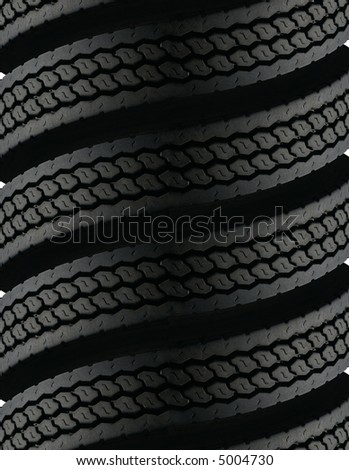 spiral tire pattern - stock photo