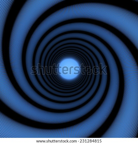 spiral tunnel - stock photo