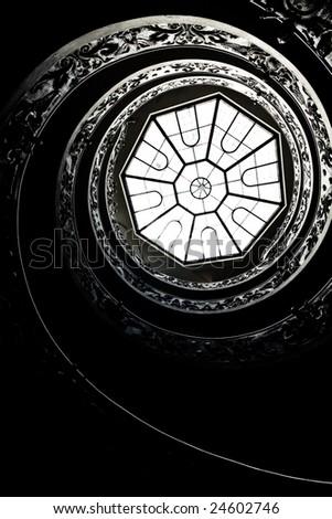Spiraling Stairs - stock photo