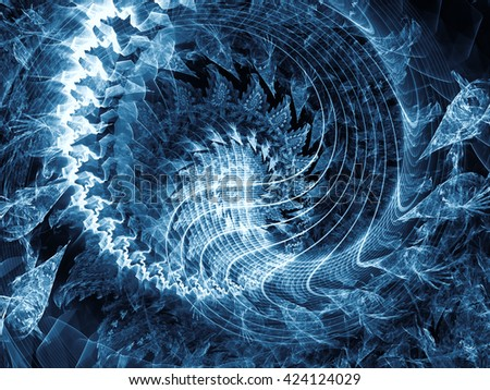 Spirals Are Forever series. Composition of spiral fractal suitable as a backdrop for the projects on science, technology and design - stock photo