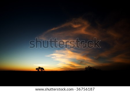 Spirit in the sky in the Australian Outback - stock photo