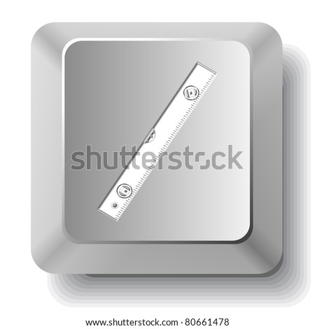 Spirit level. Computer key. Raster illustration.