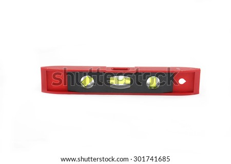 Spirit level. Isolated over white background with clipping path - stock photo