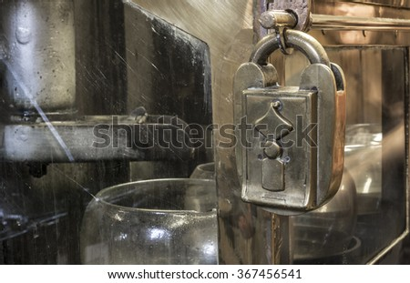 spirit safe of a scotch distillery - stock photo