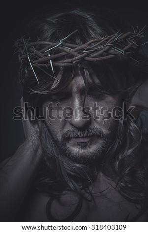 Spiritual, Calvary representation of jesus christ - stock photo