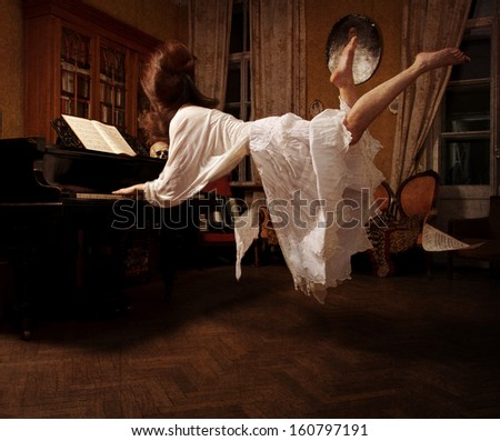 Spiritual dream about  the music - stock photo