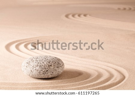 spiritual meditation zen garden, a concept for relaxation concentration harmony balance and simplicity. Holistic tao buddhism or spa wellness treatment