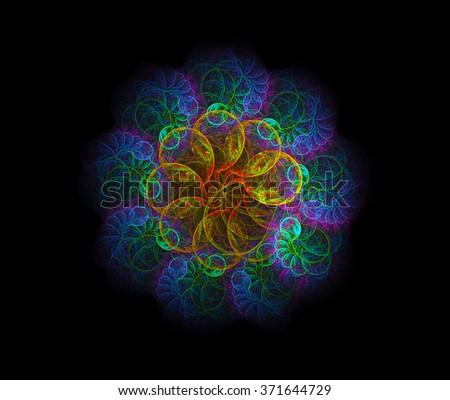 Spiritual Rosetta abstract illustration - stock photo