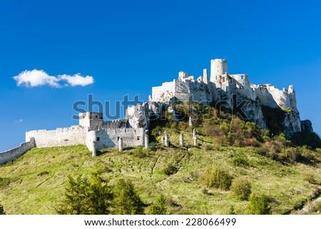 Spissky Castle, Slovakia - stock photo