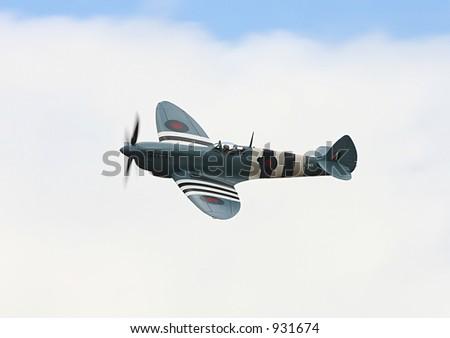 Spitfire World War 2 fighter aircraft - stock photo