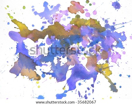 splash abstract paint background - stock photo