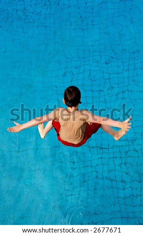 Splash..in a moment. - stock photo