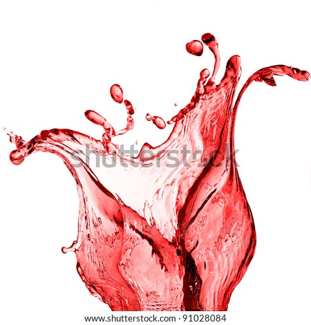 splash of red juice - stock photo