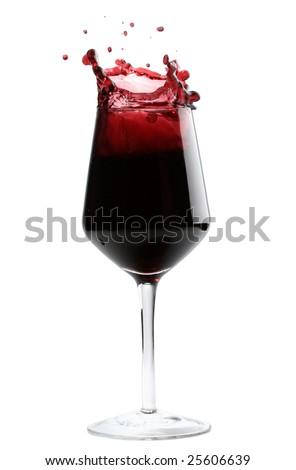 splash of red wine - stock photo