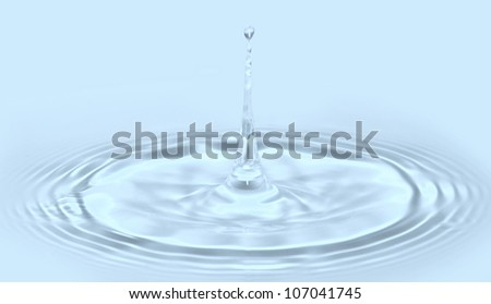 Splash of water blue drops - stock photo
