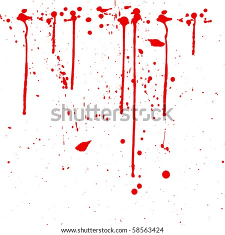 Splash of water colors  . drops of blood on a white background - stock photo