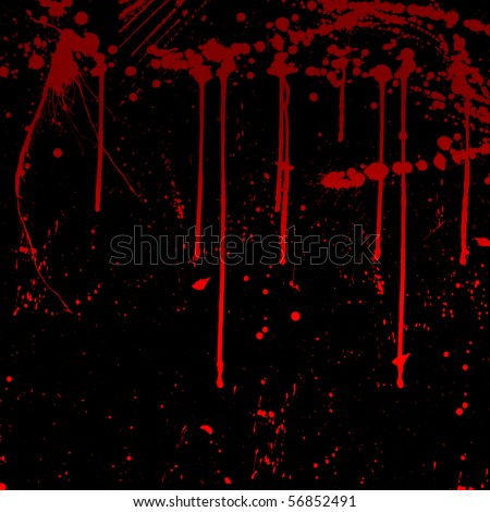Splash of water colors on a black background . drops of blood on a black background - stock photo