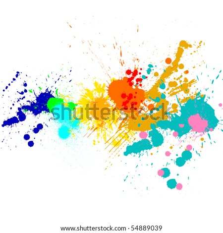 Splash of water colors on a white background - stock photo