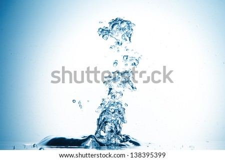 splash of water in an abstract form