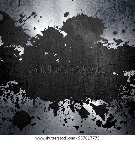 splash on metal plate background