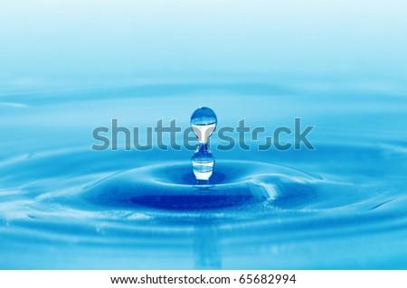 splash water - stock photo