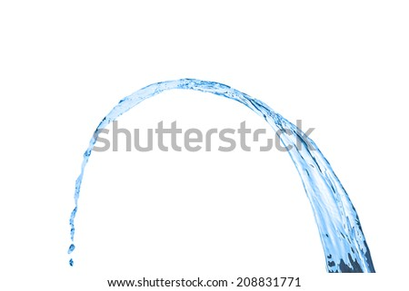 Splash water wave abstract isolated over white background - stock photo