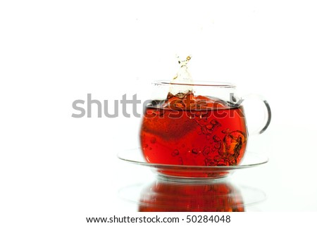 splashed tea