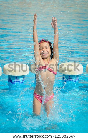 Splashes in a Swimming Pool