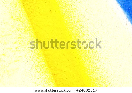 Splashes Blue Yellow White Paint On Stock Photo 424002517 - Shutterstock