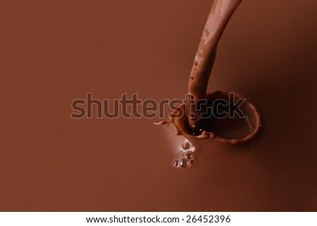 Splashing chocolate - stock photo