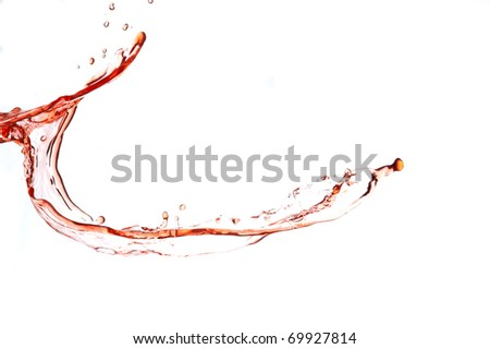Splashing fresh red drink. Creative  aqua drop.