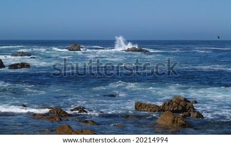 Splashing High--Panorama - stock photo