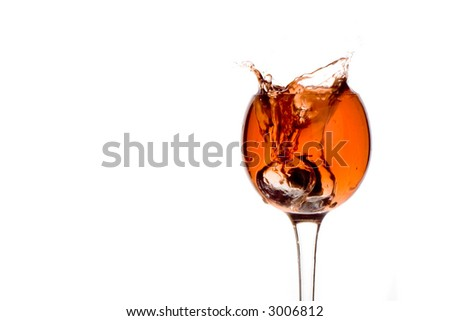 Splashing into cocktail - stock photo