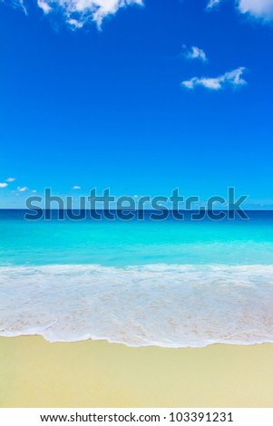 Splashing Surf Waters - stock photo