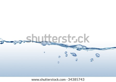 Splashing water abstract background isolated with clipping path
