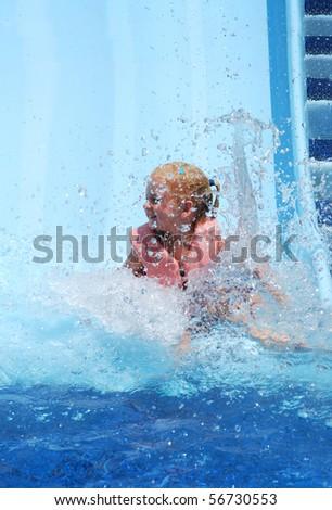 splashing water in the pool - stock photo