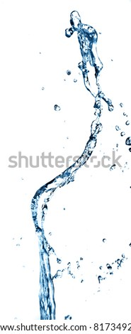 splashing water isolated on a white background - stock photo