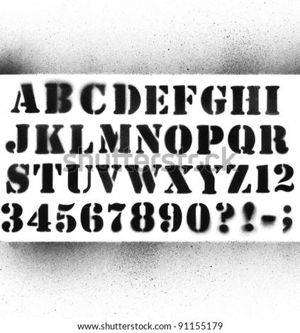 Graffiti alphabet stock photos illustrations and vector art