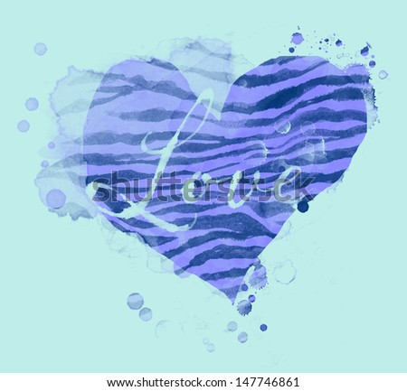 Splatter Heart Love - stock photo