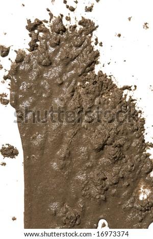 Splattered mud background - stock photo