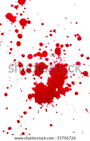 splattered red watercolor - stock photo