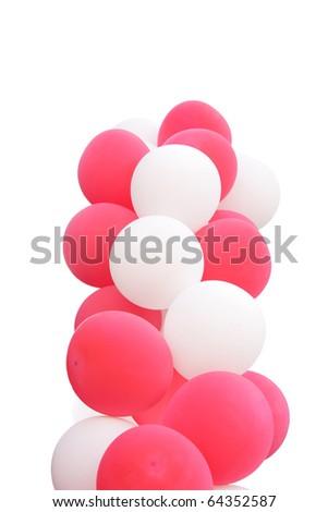 splendid balloons cloud isolated on white - stock photo