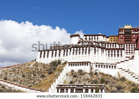 Splendid Potala Palace in tibet