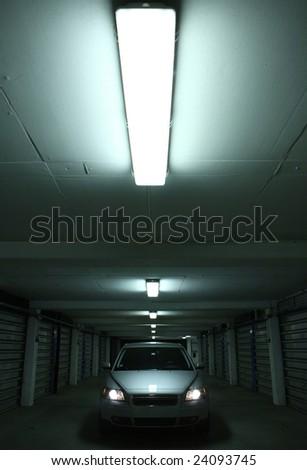 Splendid sport-wagon in a parking lot. - stock photo