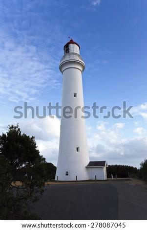 Split Point Lighthouse, Aireys Inlet, Great Ocean Road, Victoria, Australia  - stock photo
